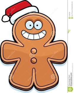 christmas-cartoon-gingerbread-man-illustration-santa-hat-47334759